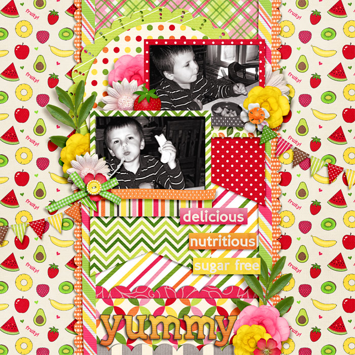 Digital scrapbooking layout by Hailey using Juice Up! Kit by lliella designs