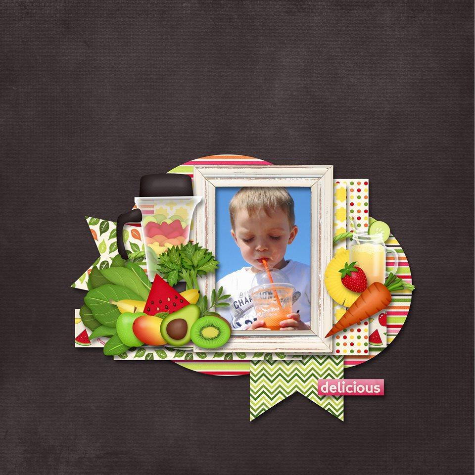 Digital scrapbooking layout by Sanka using Juice Up! Kit by lliella designs