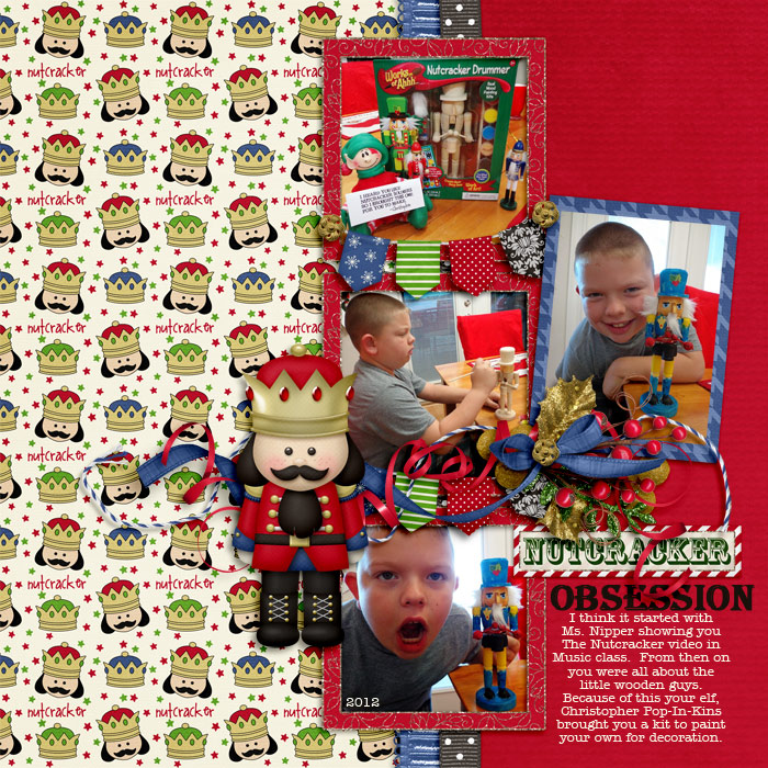 Digital scrapbooking layout by Tracy using A Christmas Dream Kit by lliella designs
