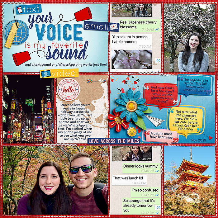Digital Scrapbooking Layout by Stacy