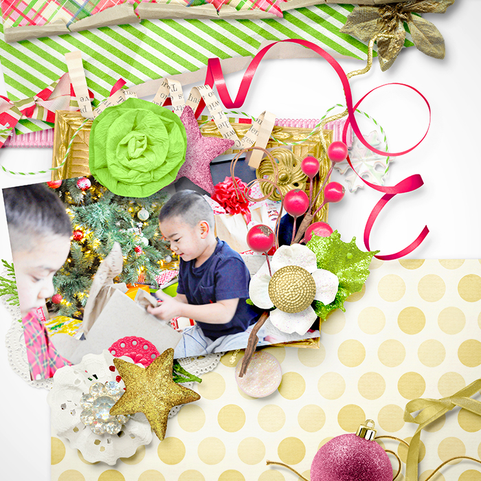Digital scrapbooking layout by Maria using A Christmas Dream Kit by lliella designs