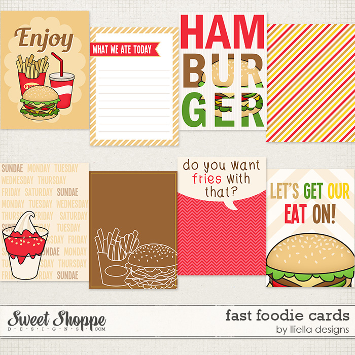 Fast Foodie Cards by lliella designs