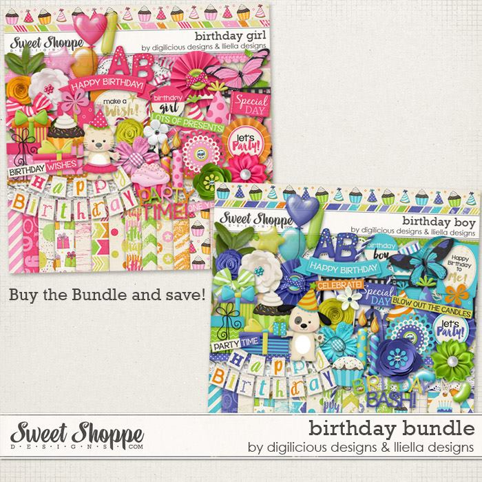 Birthday Bundle by Digilicious Design & Lliella Designs
