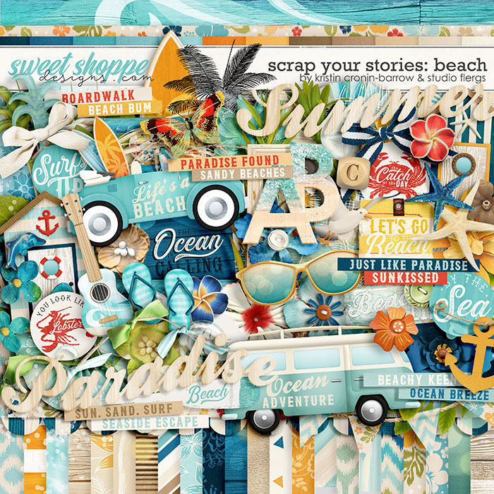 Scrap Your Stories: Beach by Studio Flergs & Kristin Cronin-Barrow