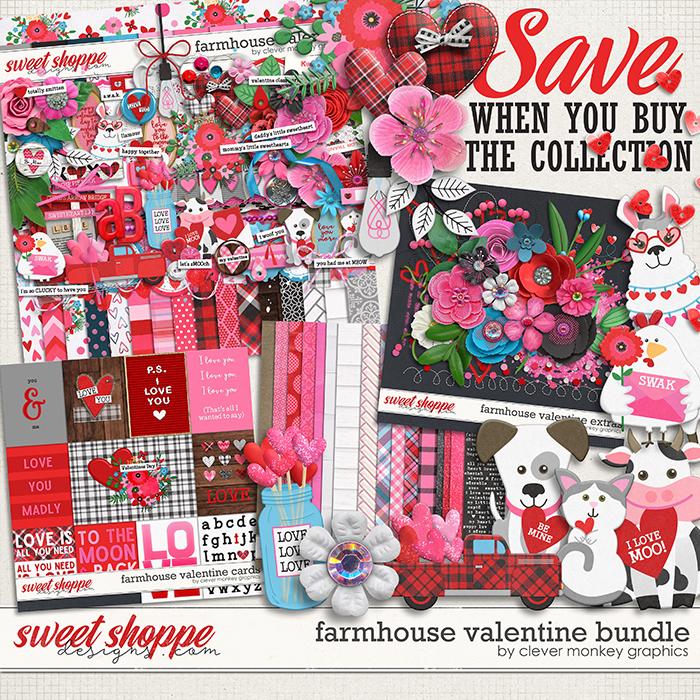 Farmhouse Valentine Bundle by Clever Monkey Graphics