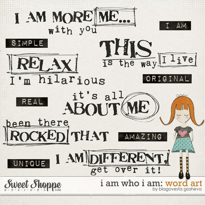 I Im Who I Am: Word art