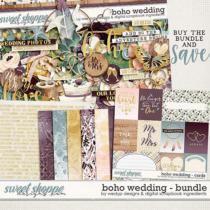 Boho Wedding  - bundle by Digital Scrapbook Ingredients & WendyP Designs