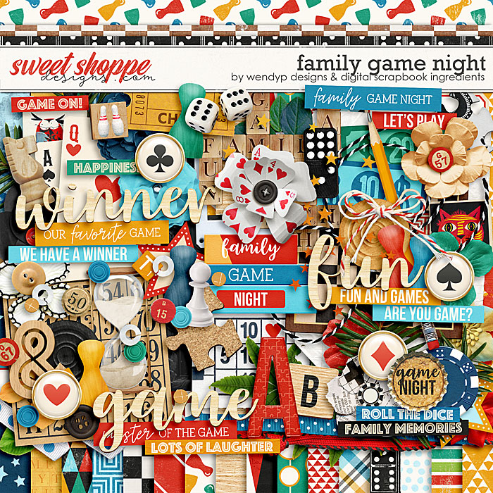 Family game night by Digital Scrapbook Ingredients & WendyP Designs