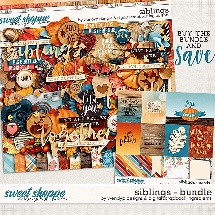 Siblings - Bundle by Digital Scrapbook Ingredients & WendyP Designs
