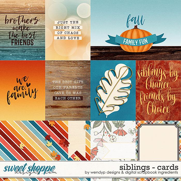 Siblings - Cards by Digital Scrapbook Ingredients & WendyP Designs