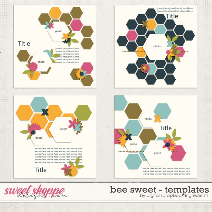 Bee Sweet Templates by Digital Scrapbook Ingredients