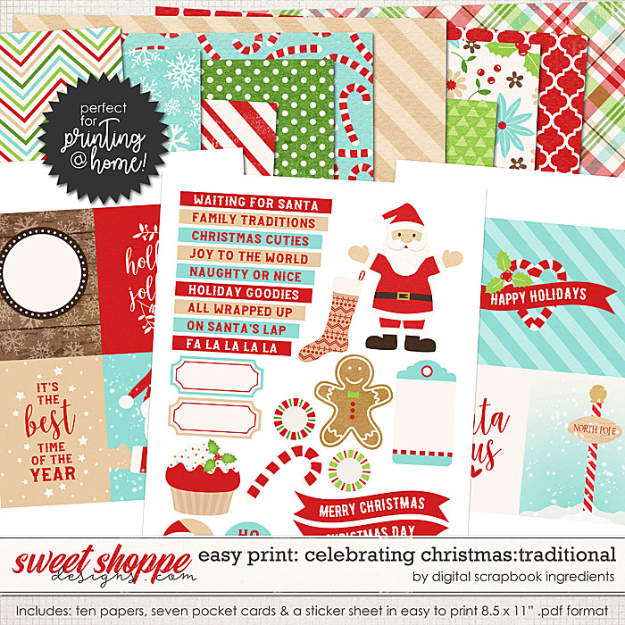 Easy Print: Celebrating Christmas - Traditional by Digital Scrapbook Ingredients