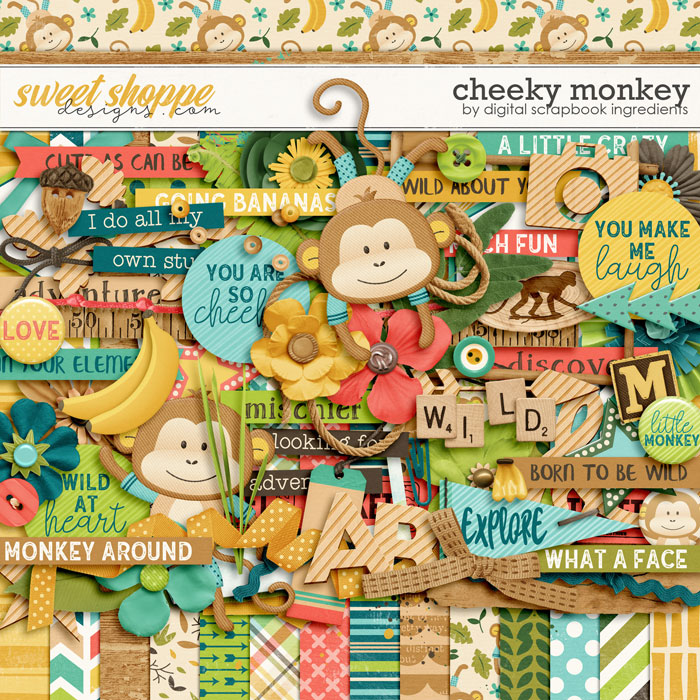Cheeky Monkey by Digital Scrapbook Ingredients