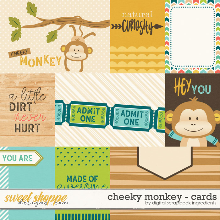 Cheeky Monkey | Cards by Digital Scrapbook Ingredients