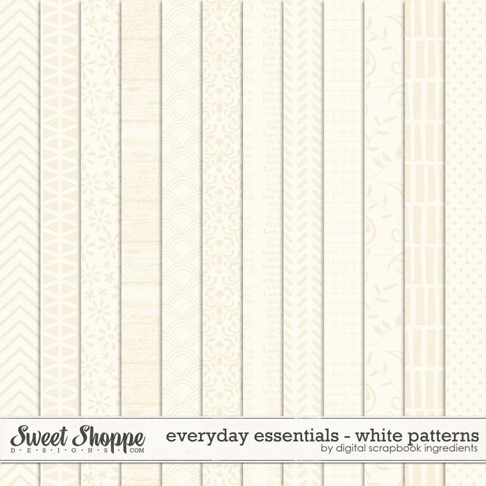 Everyday Essentials | White Patterns by Digital Scrapbook Ingredients