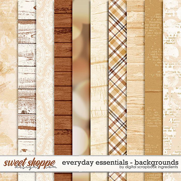 Everyday Essentials | Backgrounds by Digital Scrapbook Ingredients