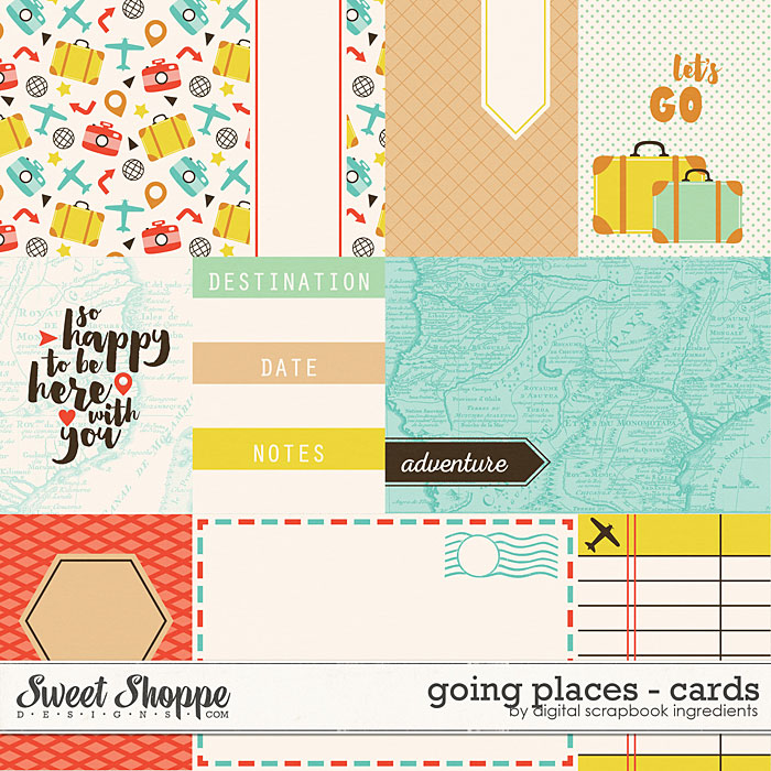 Going Places | Journal Cards by Digital Scrapbook Ingredients