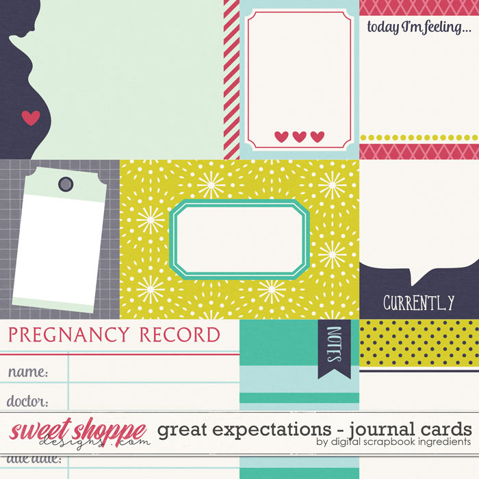 Great Expectations | Journal Cards by Digital Scrapbook Ingredients