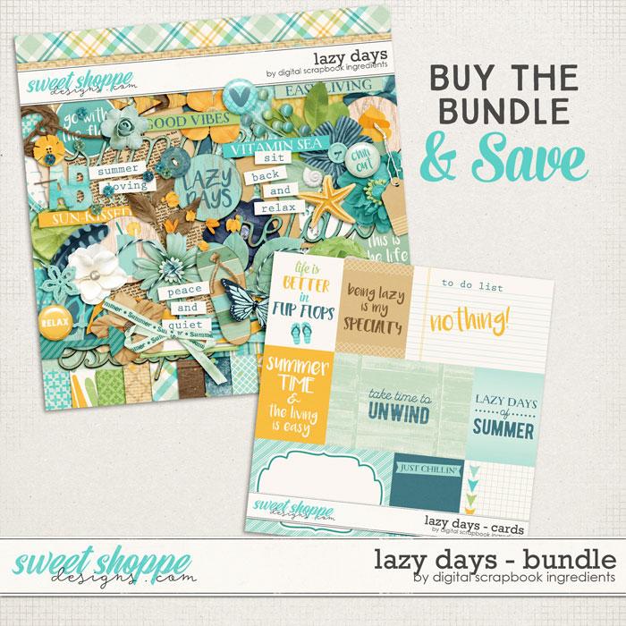 Lazy Days Bundle by Digital Scrapbook Ingredients
