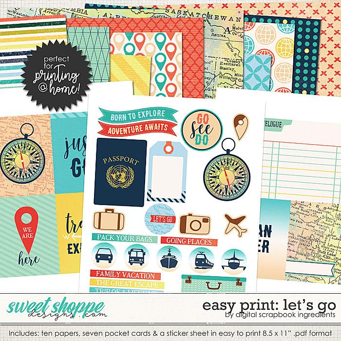 Easy Print: Let's Go by Digital Scrapbook Ingredients