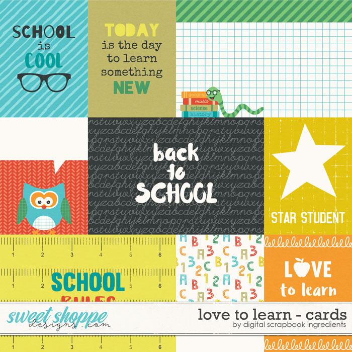 Love To Learn | Journal Cards by Digital Scrapbook Ingredients