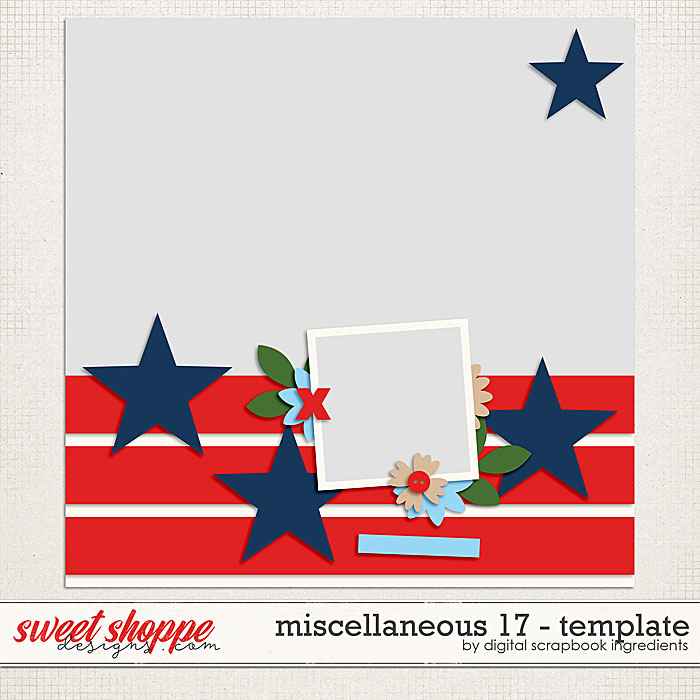 Miscellaneous 17 Template by Digital Scrapbook Ingredients