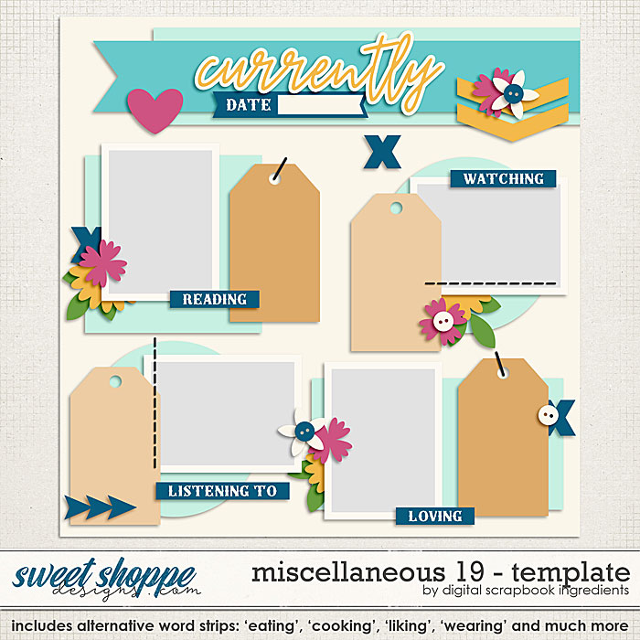 Miscellaneous 19 Template by Digital Scrapbook Ingredients