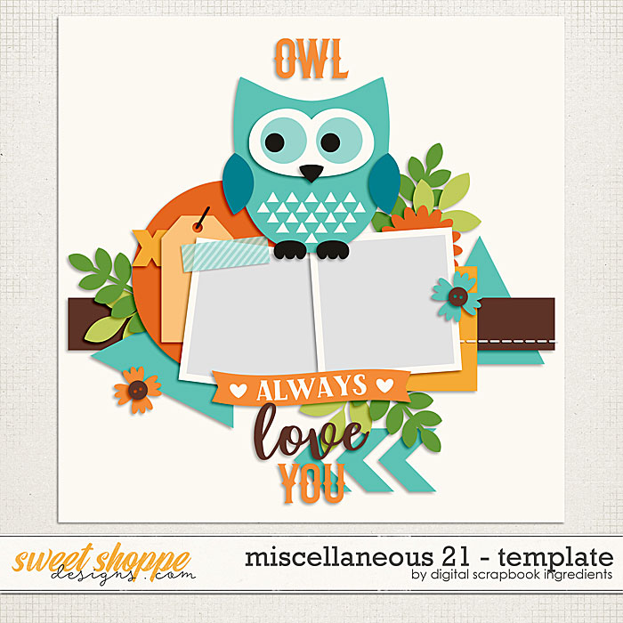 Miscellaneous 21 Template by Digital Scrapbook Ingredients