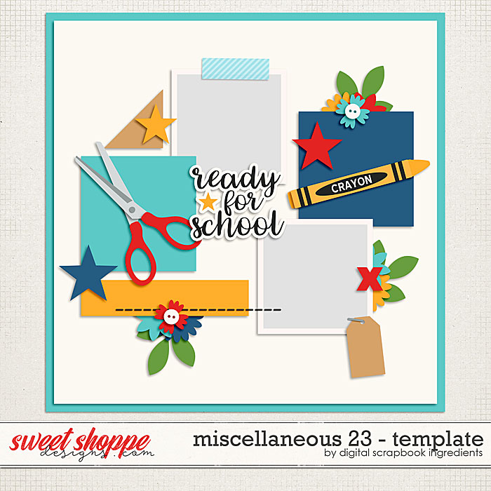 Miscellaneous 23 Template by Digital Scrapbook Ingredients