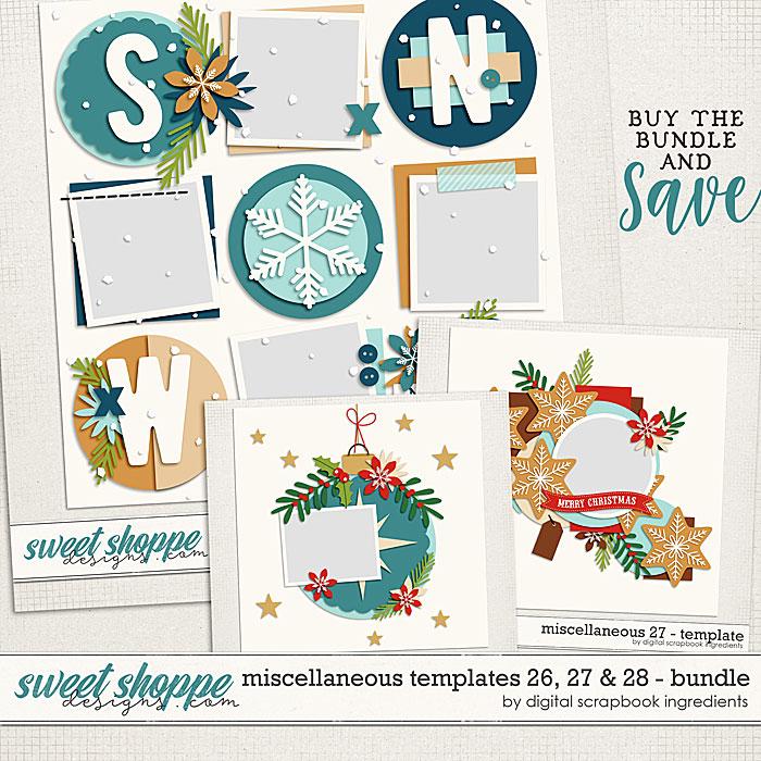 Miscellaneous 26, 27 & 28 Template Bundle by Digital Scrapbook Ingredients