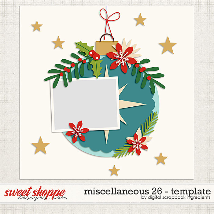 Miscellaneous 26 Template by Digital Scrapbook Ingredients