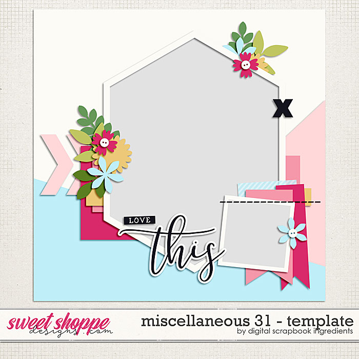 Miscellaneous 31 Template by Digital Scrapbook Ingredients
