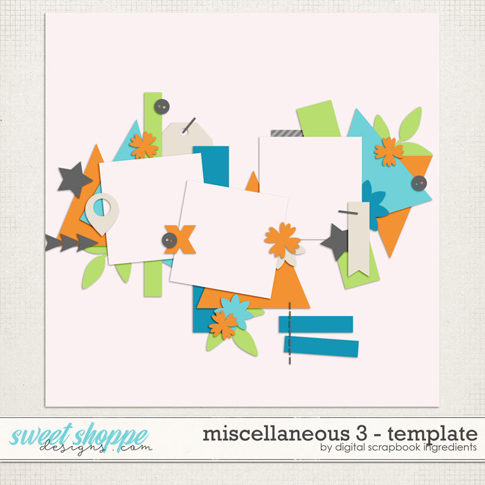 Miscellaneous 3 Template by Digital Scrapbook Ingredients