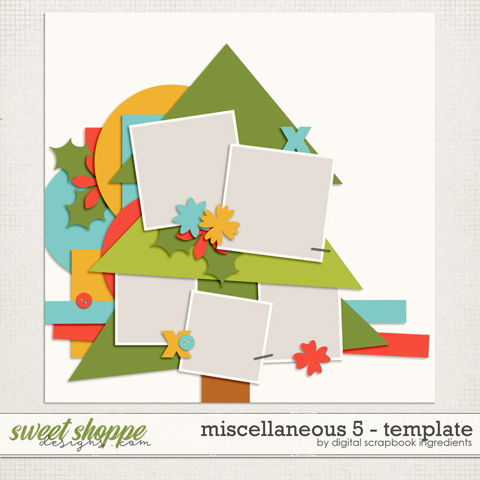 Miscellaneous 5 Template by Digital Scrapbook Ingredients