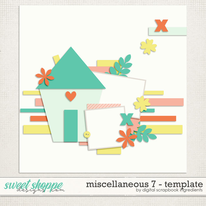 Miscellaneous 7 Template by Digital Scrapbook Ingredients