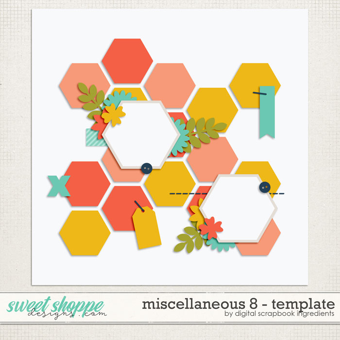 Miscellaneous 8 Template by Digital Scrapbook Ingredients
