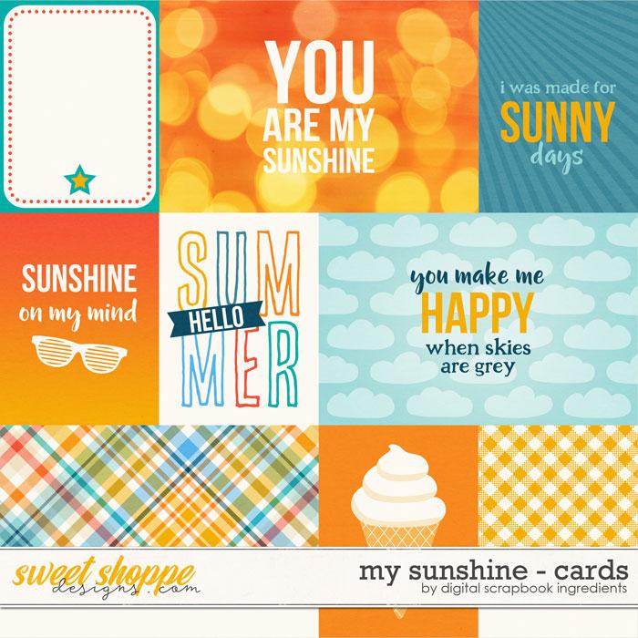 My Sunshine | Cards by Digital Scrapbook Ingredients