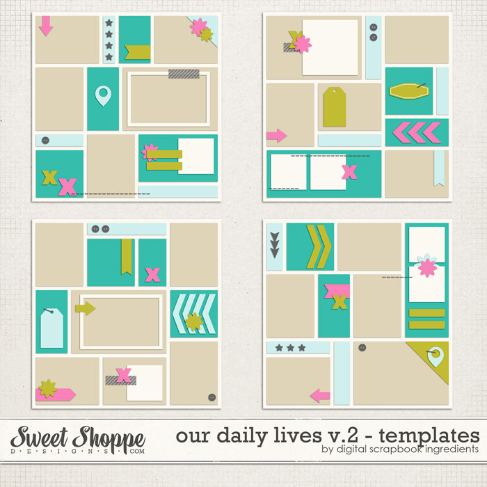 Our Daily Lives Templates Vol.2 by Digital Scrapbook Ingredients