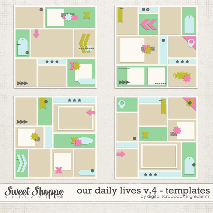 Our Daily Lives Templates Vol.4 by Digital Scrapbook Ingredients