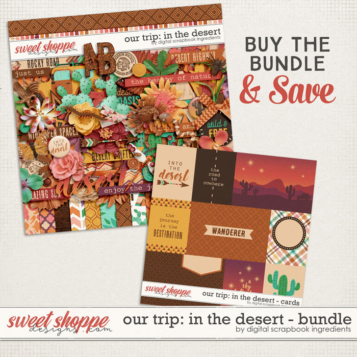 Our Trip: In The Desert Bundle by Digital Scrapbook Ingredients