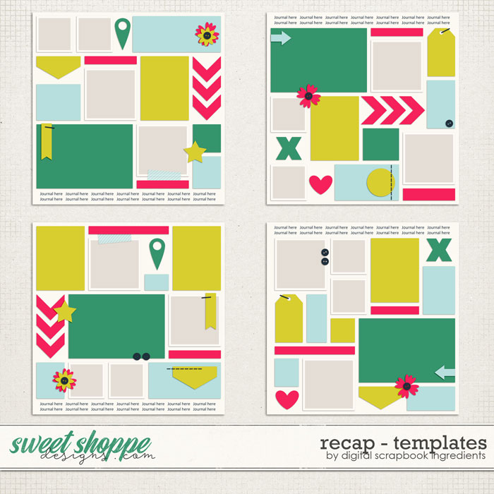 Recap Templates by Digital Scrapbook Ingredients