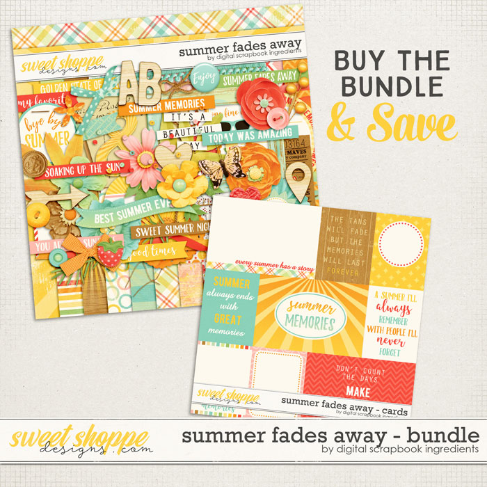 Summer Fades Away Bundle by Digital Scrapbook Ingredients