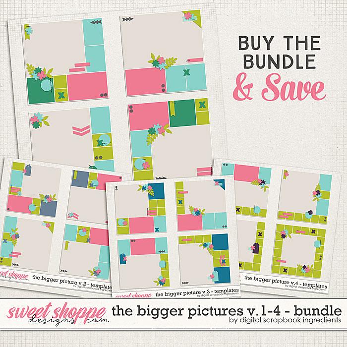 The Bigger Picture Templates Vol.1-4 Bundle by Digital Scrapbook Ingredients
