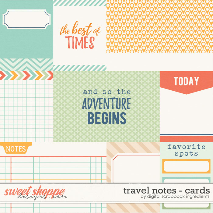 Travel Notes | Journal Cards by Digital Scrapbook Ingredients