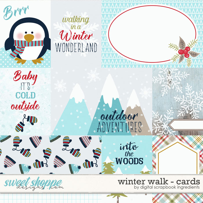 Winter Walk | Cards by Digital Scrapbook Ingredients