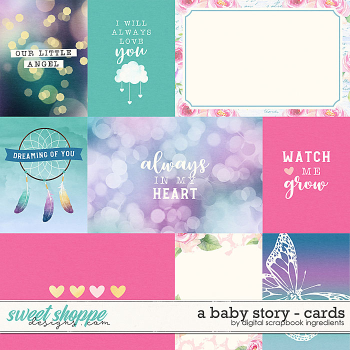 A Baby Story | Cards by Digital Scrapbook Ingredients