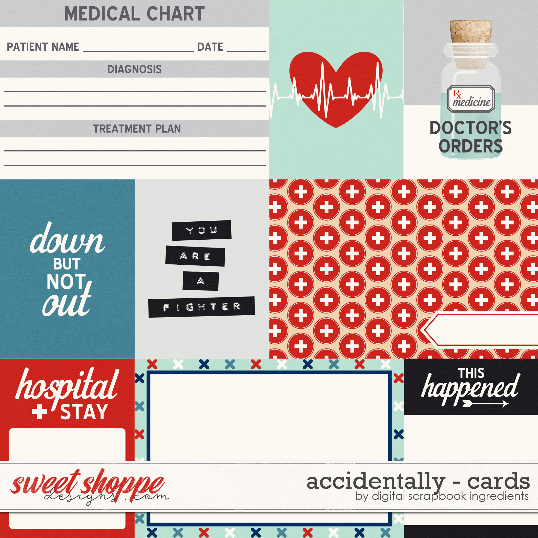 Accidentally | Cards by Digital Scrapbook Ingredients