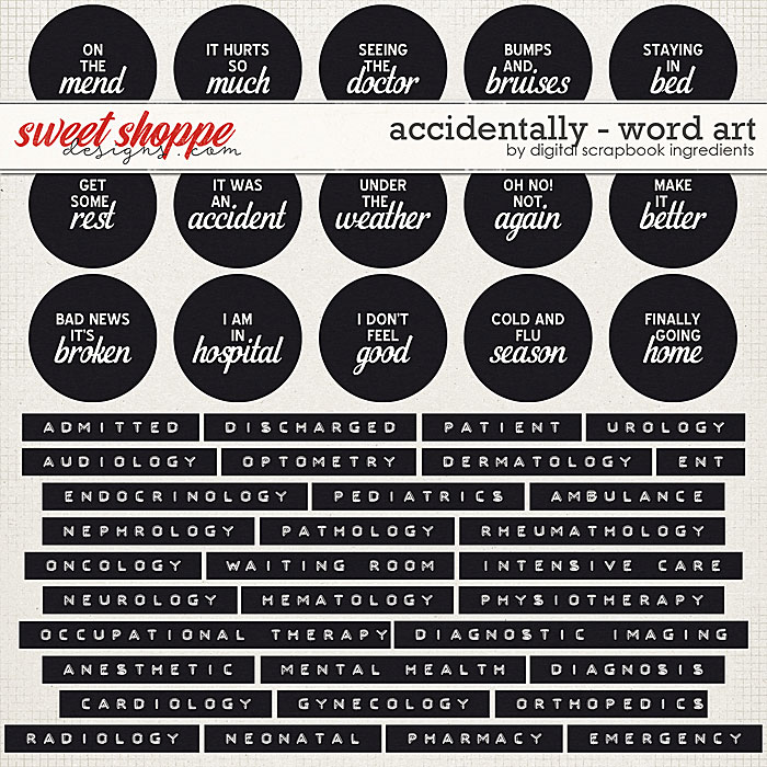 Accidentally | Word Art by Digital Scrapbook Ingredients