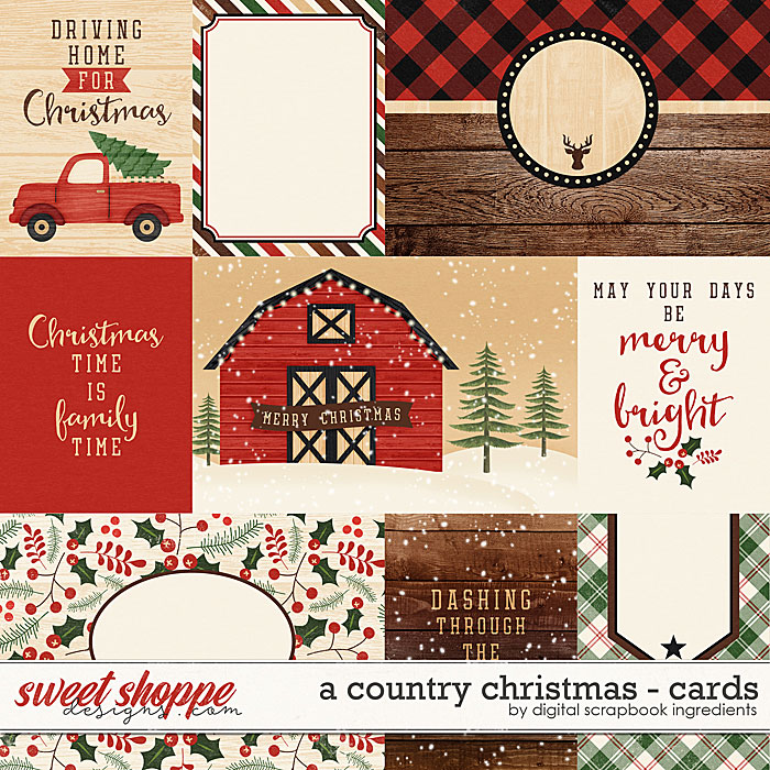 A Country Christmas   Cards by Digital Scrapbook Ingredients