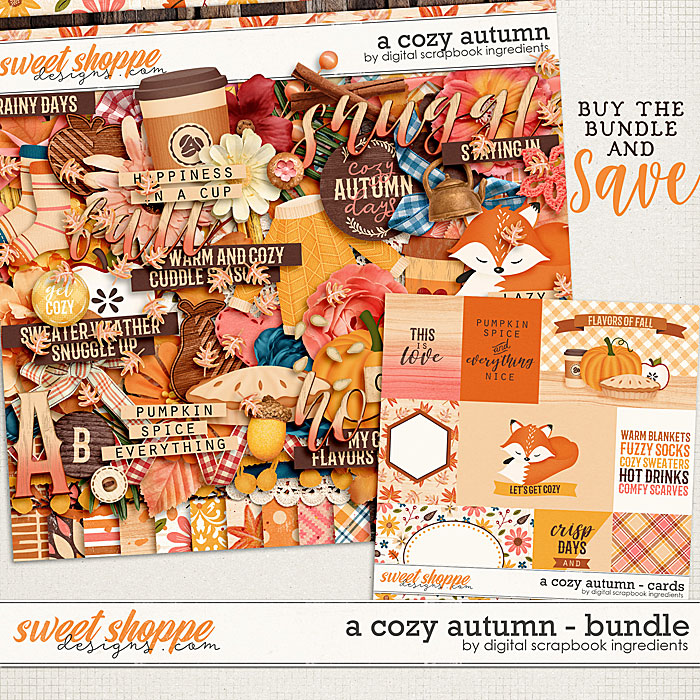 A Cozy Autumn Bundle by Digital Scrapbook Ingredients